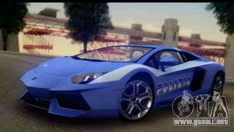 Lamborghini Aventador para la vista superior GTA San Andreas