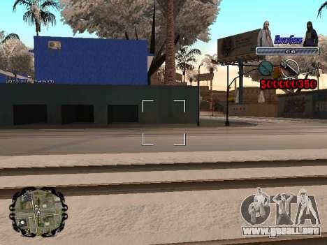C-HUD Bomj Gang para GTA San Andreas quinta pantalla