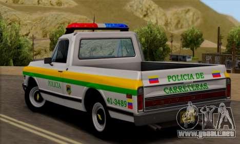 Chevrolet C10 1972 Policia para GTA San Andreas left