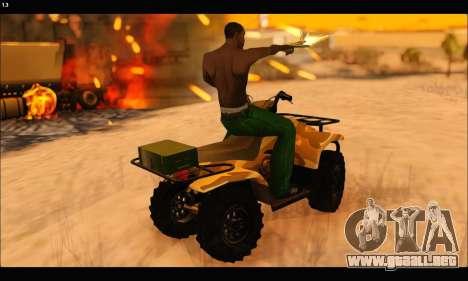 ATV Army Edition v.3 para la vista superior GTA San Andreas