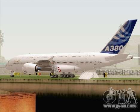 Airbus A380-800 F-WWDD Etihad Titles para vista inferior GTA San Andreas
