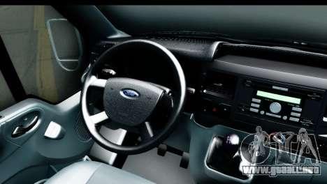 Ford Transit SWB Love Live para GTA San Andreas vista hacia atrás