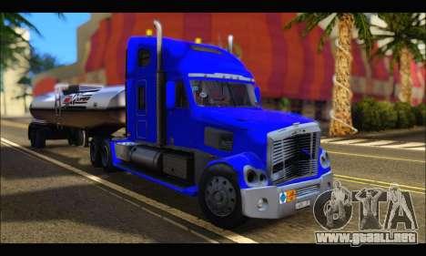 Freightliner Coronado v.2 para GTA San Andreas vista hacia atrás