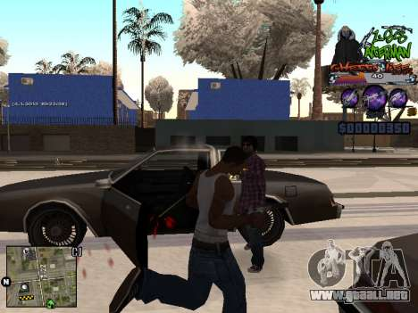 C-HUD Les Alterman para GTA San Andreas sucesivamente de pantalla