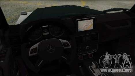Mersedes-Benz G500 Brabus para GTA San Andreas vista posterior izquierda