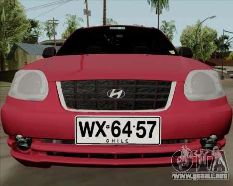 Hyundai Accent 2004 para GTA San Andreas left
