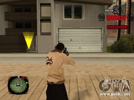 C-HUD Hennesy para GTA San Andreas segunda pantalla