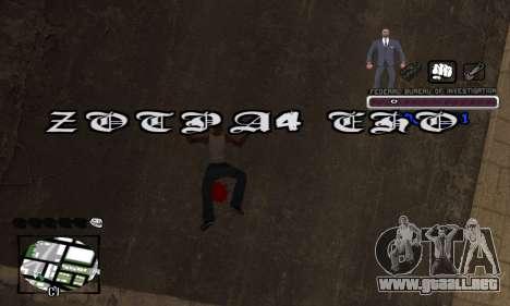 FBI C-HUD para GTA San Andreas quinta pantalla