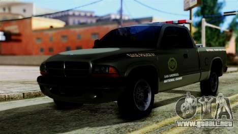 Dodge Dakota National Guard Base Police para GTA San Andreas