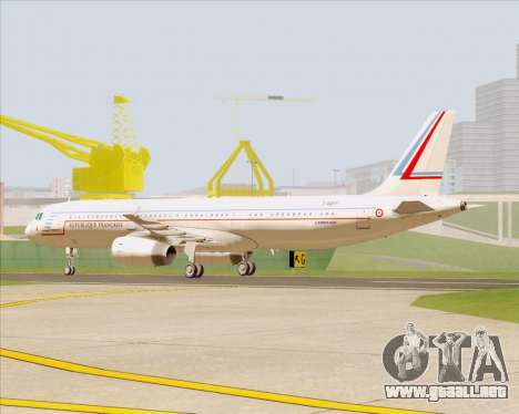 Airbus A321-200 French Government para GTA San Andreas left