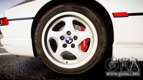 BMW E31 850CSi 1995 [EPM] Carbon para GTA 4 vista hacia atrás