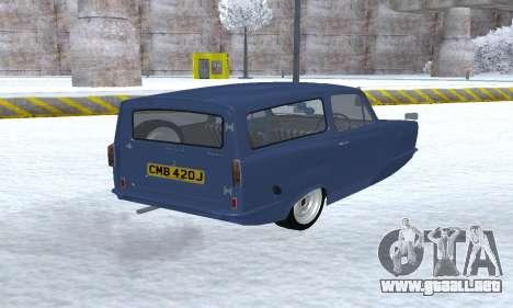 Reliant Supervan III para GTA San Andreas vista hacia atrás