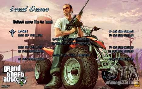 GTA 5 Menú para GTA San Andreas segunda pantalla