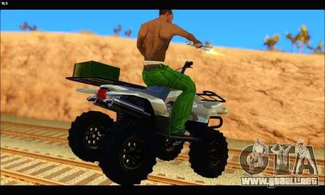 ATV Army Edition v.3 para GTA San Andreas vista posterior izquierda