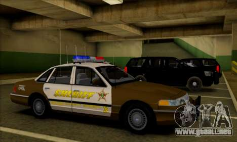 Ford Crown Victoria 1994 Sheriff para visión interna GTA San Andreas