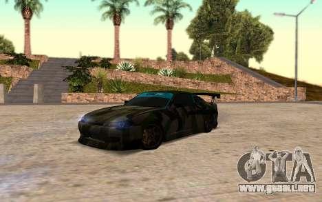 Nissan Silvia S15 Hunter para GTA San Andreas vista posterior izquierda