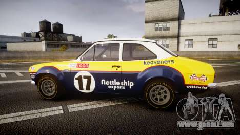 Ford Escort RS1600 PJ17 para GTA 4 left