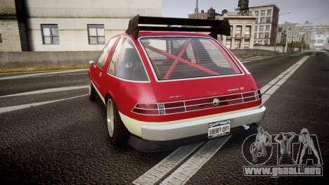 Declasse Rhapsody Camber para GTA 4 Vista posterior izquierda