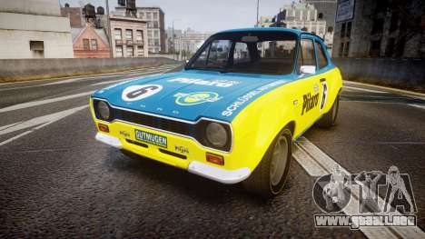 Ford Escort RS1600 PJ6 para GTA 4