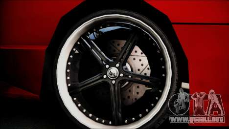 Dirt Elegy Editions para GTA San Andreas vista posterior izquierda