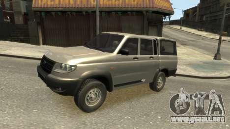 UAZ Patriot Pickup v.2.0 para GTA 4 vista interior