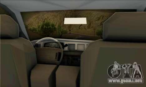 Ford Crown Victoria NY Taxi para la visión correcta GTA San Andreas