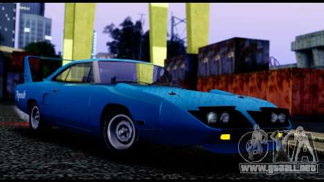 Plymouth Roadrunner Superbird RM23 1970 IVF para GTA San Andreas left
