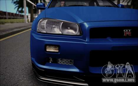 Nissan Skyline GT-R V Spec II 2002 para la visión correcta GTA San Andreas