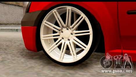 Dacia Logan MXP para GTA San Andreas vista posterior izquierda
