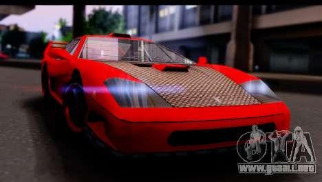 Turismo Pro X para GTA San Andreas vista posterior izquierda