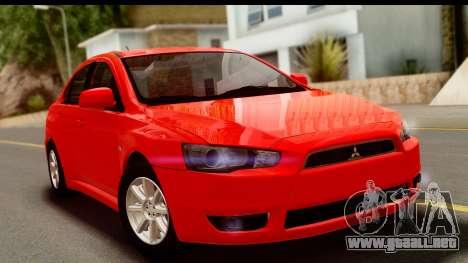 Mitsubishi Lancer X Stock para GTA San Andreas
