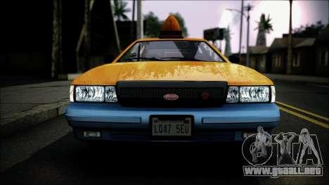 Taxi Vapid Stanier II from GTA 4 IVF para GTA San Andreas vista hacia atrás