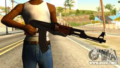 AK47 from Global Ops: Commando Libya para GTA San Andreas tercera pantalla