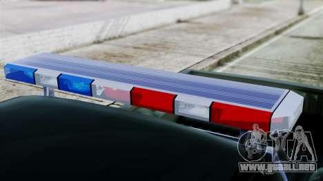 Dodge Dakota National Guard Base Police para GTA San Andreas vista posterior izquierda
