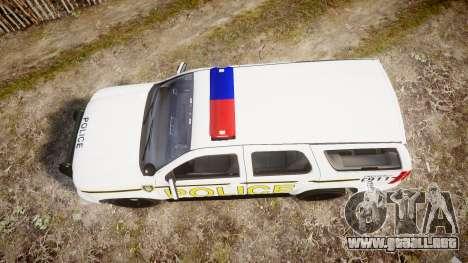 Chevrolet Tahoe 2010 Police Alderney [ELS] para GTA 4 visión correcta