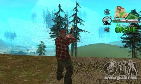 C-HUD Groove St. Family para GTA San Andreas segunda pantalla