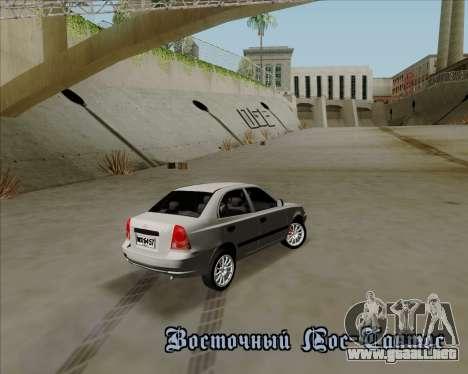 Hyundai Accent 2004 para GTA San Andreas vista hacia atrás