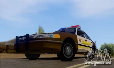 Ford Crown Victoria 1994 Sheriff para GTA San Andreas left