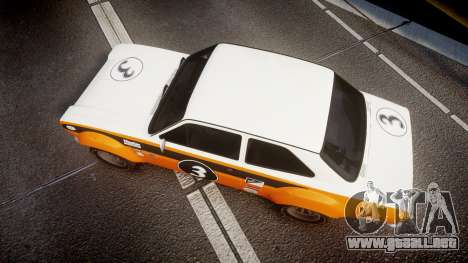 Ford Escort RS1600 PJ3 para GTA 4 visión correcta