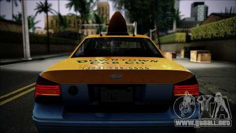 Taxi Vapid Stanier II from GTA 4 IVF para visión interna GTA San Andreas