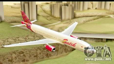 Airbus A320 Batik Air para GTA San Andreas
