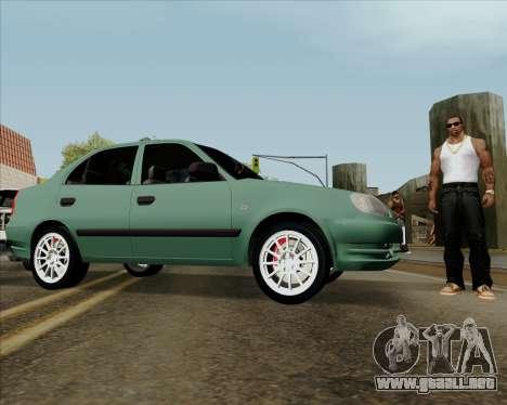 Hyundai Accent 2004 para la visión correcta GTA San Andreas