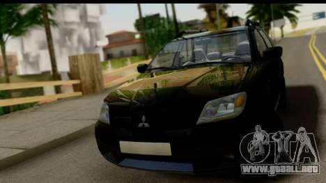 Mitsubishi Outlander para GTA San Andreas vista hacia atrás