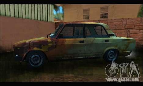VAZ 2107 Rusty para GTA San Andreas left
