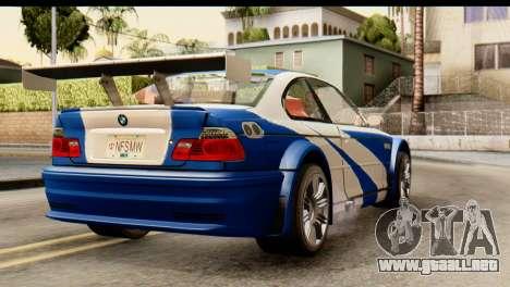 BMW M3 E46 GTR NFS MW para GTA San Andreas left