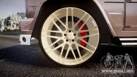 Mercedes-Benz G65 Brabus rims1 para GTA 4 vista hacia atrás
