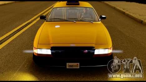 GTA 4 Vapid Stanier Downtown Cab para la visión correcta GTA San Andreas