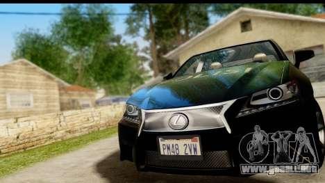 Lexus GS350 Indonesian Police para GTA San Andreas vista hacia atrás