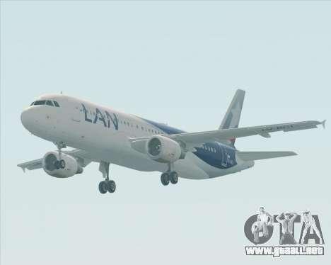 Airbus A320-200 LAN Argentina para visión interna GTA San Andreas