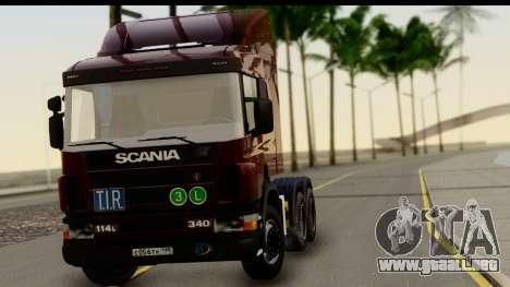 Scania P340 para GTA San Andreas vista posterior izquierda